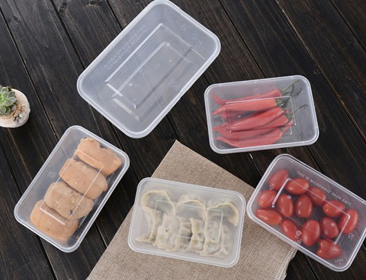 650ML TAKEOUT  RECTANGULAR FOOD CONTAINER WITH LID
