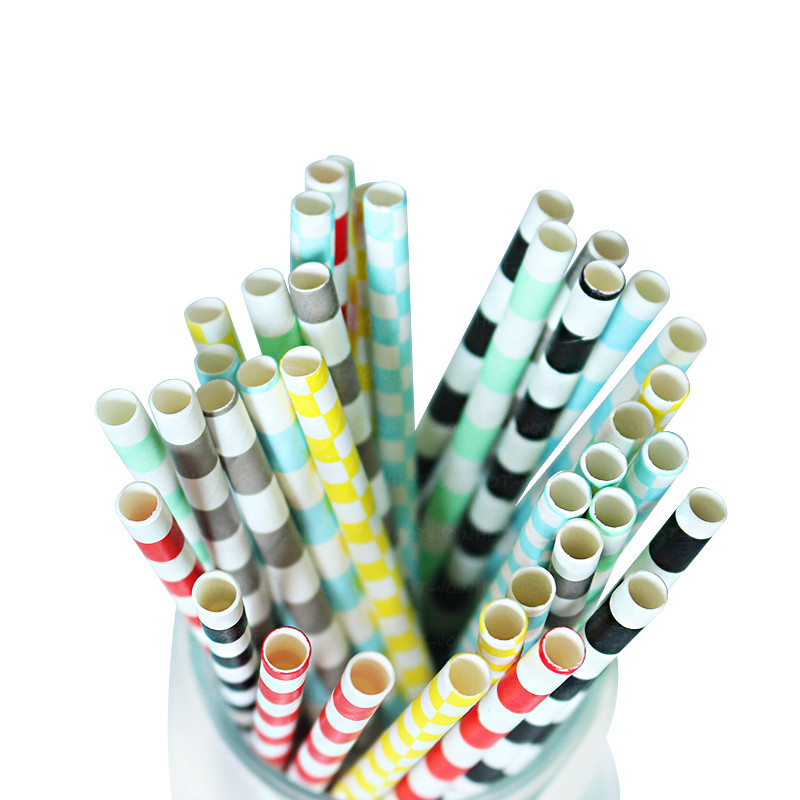 EaMaSy Party  0.25''X7.75''  Jumbo Assorted Paper Straws