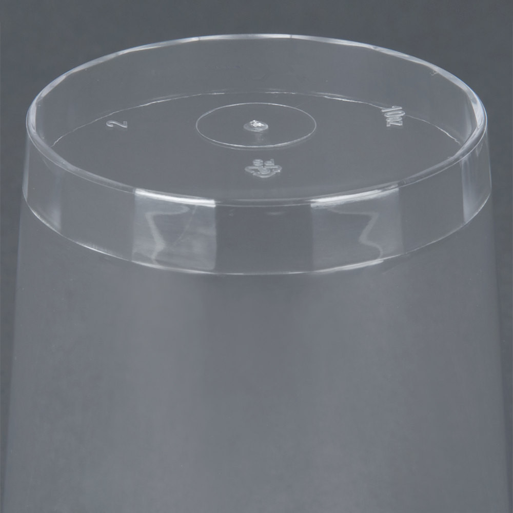 EaMaSy Party 10 oz. Tall Clear Hard Plastic Tumbler