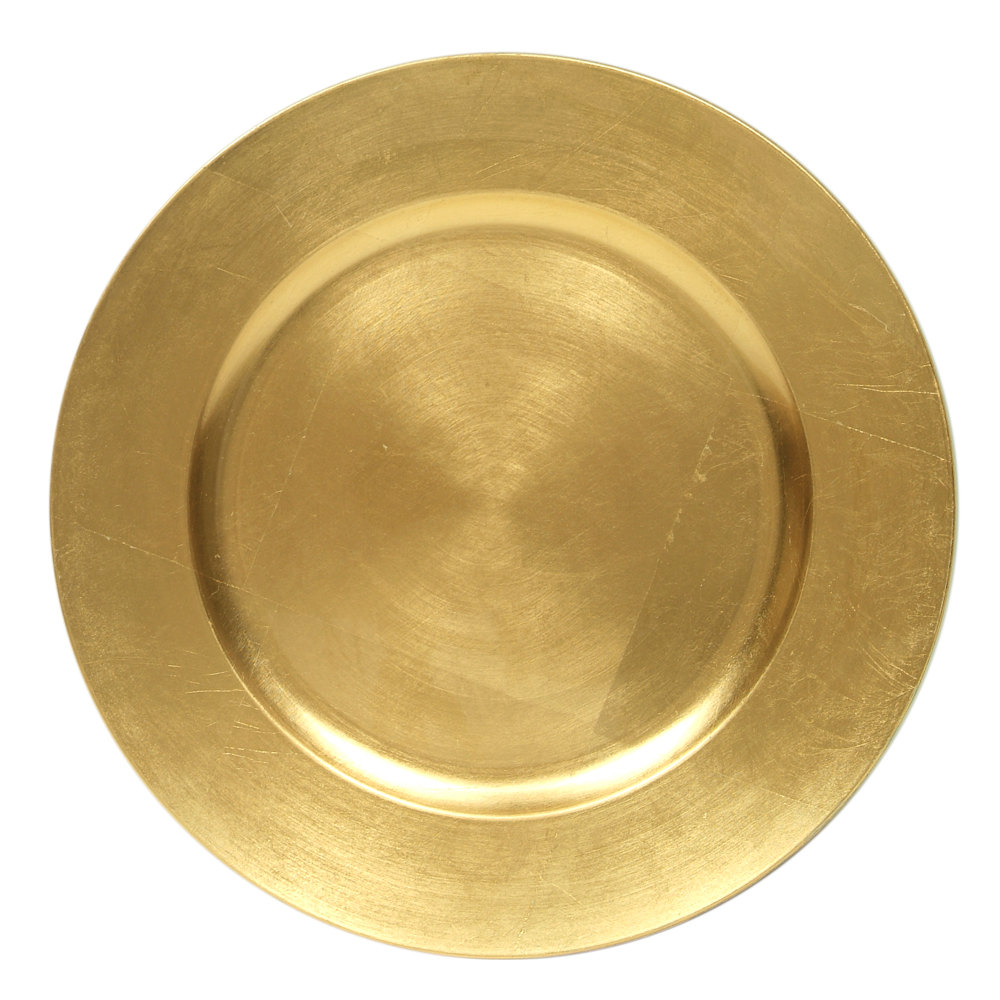 EaMaSy Party 13 u0027u0027 Round Gold Polypropylene Charger Plate  sc 1 st  ideal-household.com & EaMaSy Party 13 u0027u0027 Round Gold Polypropylene Charger Plate (D023002 ...