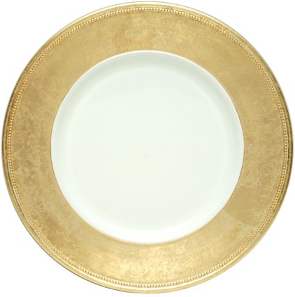 "EaMaSy Party 13""  Round Gold Rim Polypropylene Charger Plate"