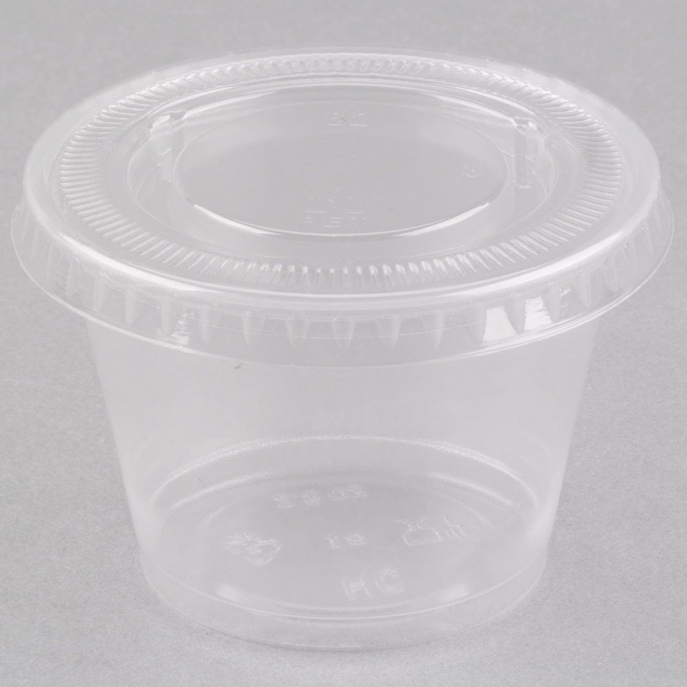 EaMaSy Party  2.5 oz.Clear  Plastic Souffle Cup / Portion Cup