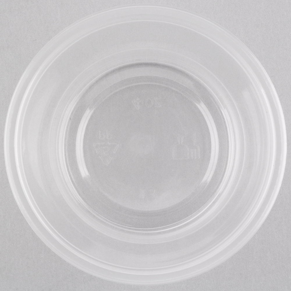 EaMaSy Party  4 oz.Clear  Plastic Souffle Cup / Portion Cup with LId