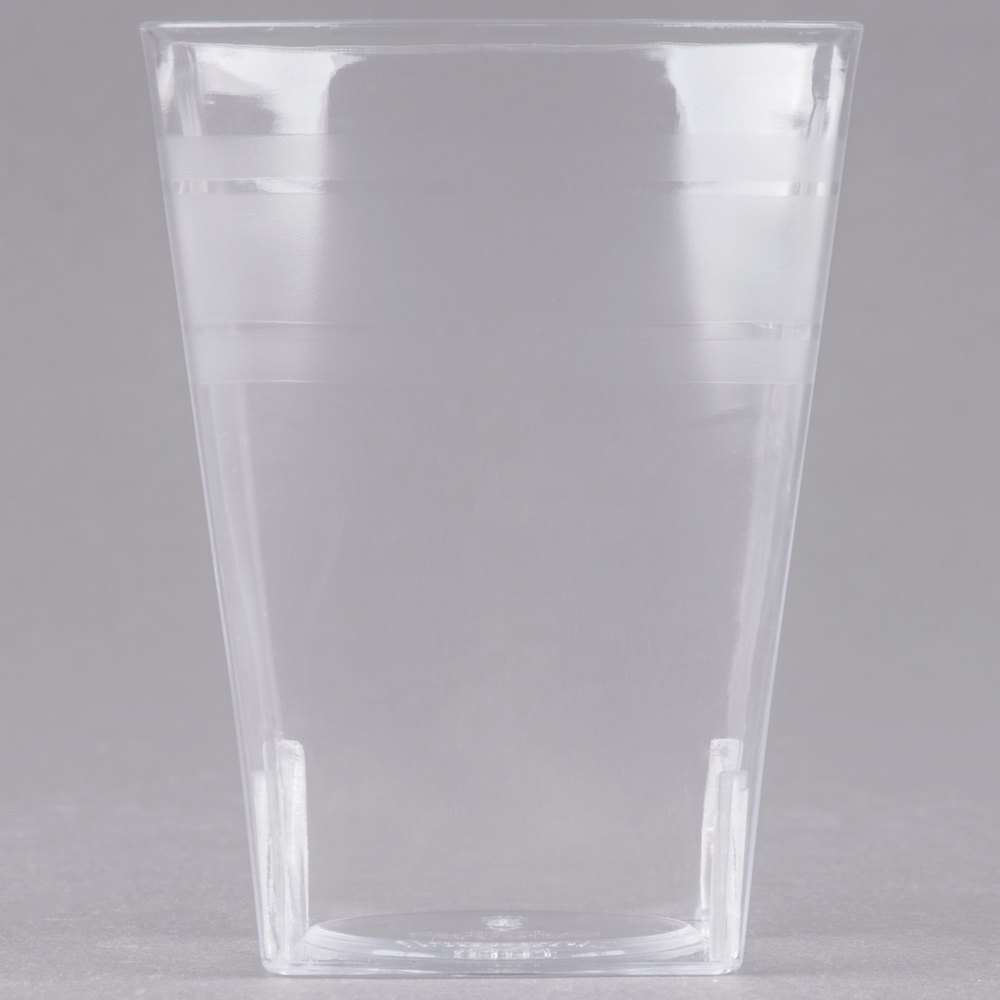 EaMaSy Party 4 oz. Tiny Tumblers Clear Plastic Cup