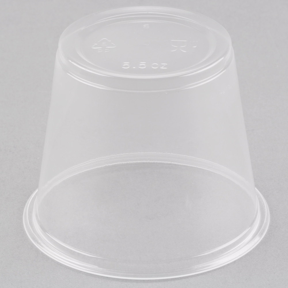 EaMaSy Party  5.5 oz.Clear  Plastic Souffle Cup / Portion Cup with LId