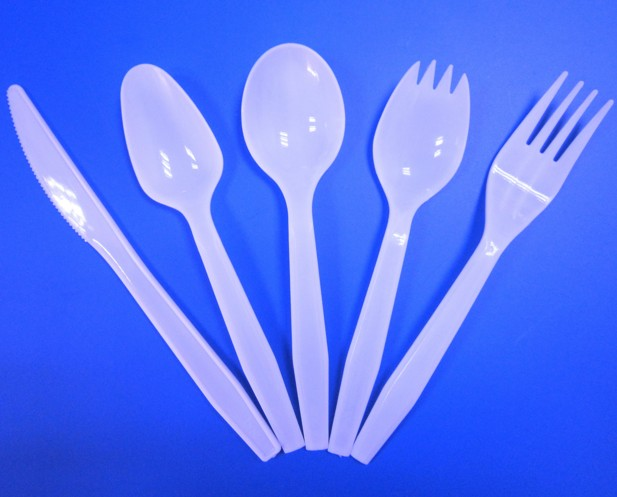 EaMaSy Party  Medium Weight White Plastic Soup Spoon
