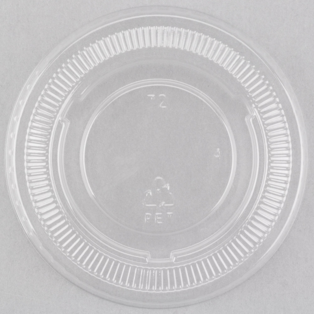 EaMaSy Party PET Plastic Lid for 3.25 to 5.5 oz. Souffle Cup - Portion Cup