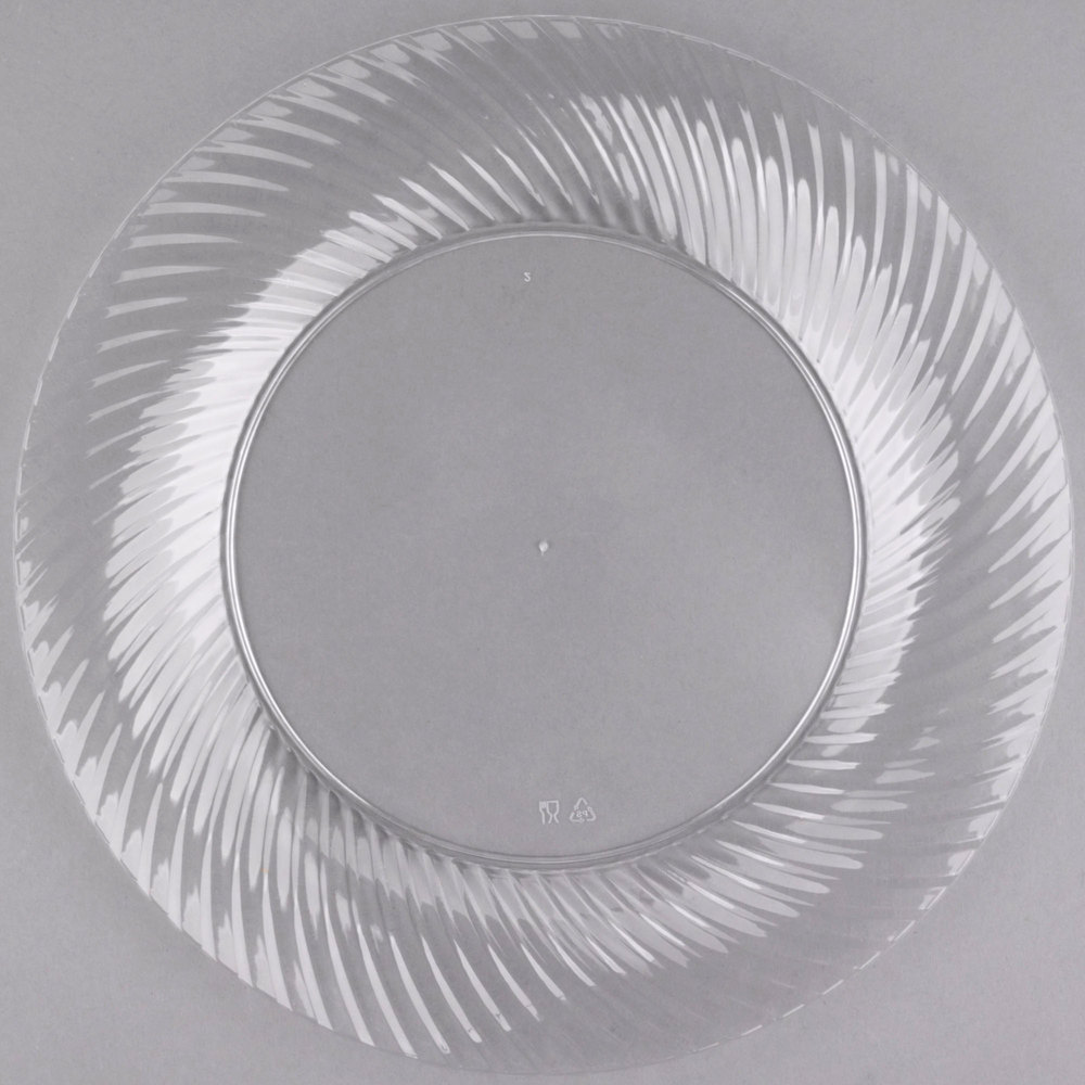 "EaMaSy Party  Wave  10"" Clear Plastic Plate"