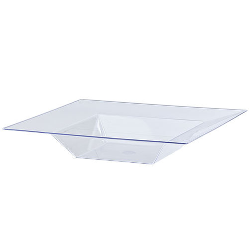 EASY PARTY  Solid Squares 12 oz. Clear Square Plastic Bowls
