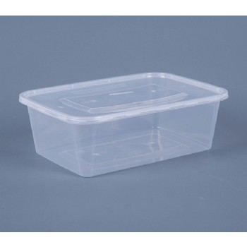 1500ML TAKEOUT  RECTANGULAR FOOD CONTAINER WITH LID