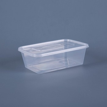 750ML TAKEOUT  RECTANGULAR FOOD CONTAINER WITH LID