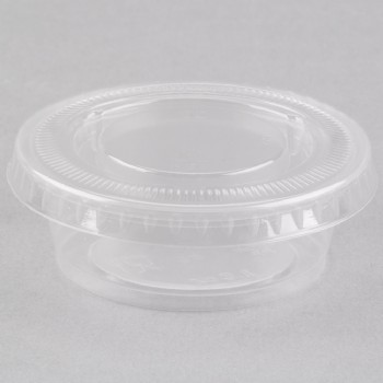 EaMaSy Party  1.5 oz.   Clear Plastic Souffle Cup /Portion Cup