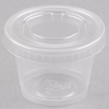 EaMaSy Party  1 oz.   Clear Plastic Souffle Cup /Portion Cup