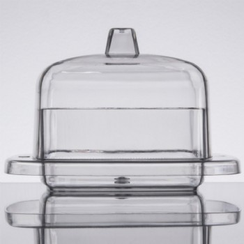 EaMaSy Party  2.2 oz. Clear Square Tray with Lid