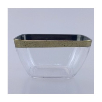 EaMaSY Party 2 3/16''x 2 3/16'' Tiny  Plastic Square Bowl