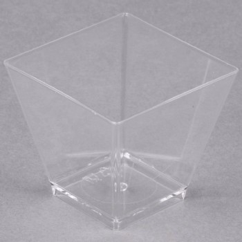 EaMaSy Party 2 oz. Tiny Barware Clear Plastic Cube Bowl