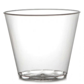 EaMaSy Party  9 oz. Squat Clear Hard Plastic Tumbler