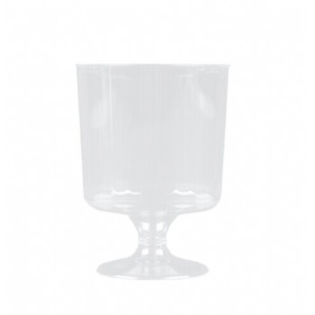 EaMaSy Party Classicware 2 oz. Clear Plastic Pedestal Wine Cup