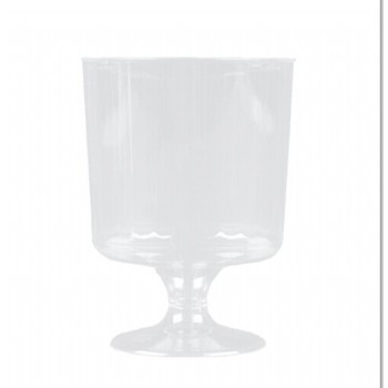 EaMaSy Party Classicware 5 oz. Clear Plastic Pedestal Wine Cup