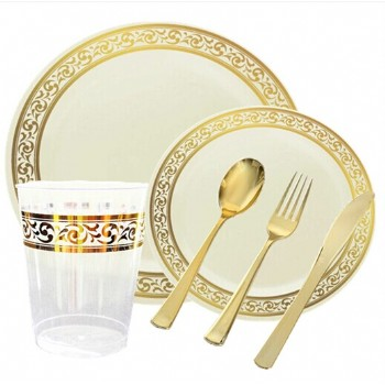 EASY PARTY Premium GRAND Ivory And Gold Party Package